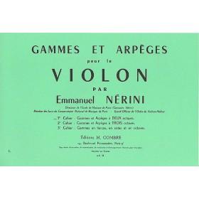 Gammes et Arpèges pour le Violon Volume 1 Emmanuel NERINI