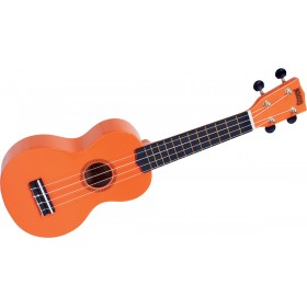 MAHALO Ukulele Soprano Orange Brillant + Housse