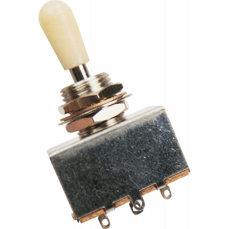 YELLOW PARTS EZ1180W Selecteur de micro 3 positions Blanc