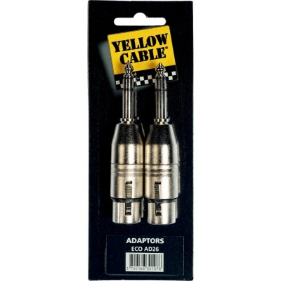 YELLOW CABLE AD26 Adaptateurs Jack Stéréo Mâle / XLR Femelle