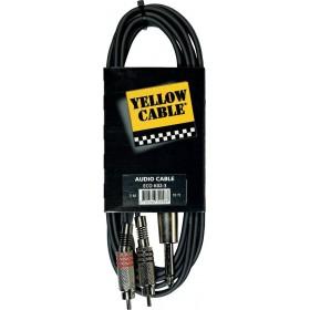 YELLOW CABLE K02-3 Câble 2 RCA Mâle / Jack Mono Mâle 3 m