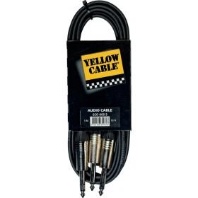 YELLOW CABLE K05-3 Câble Raccord 2 Jacks Mono Mâle / Jack Stéréo Mâle 3 m