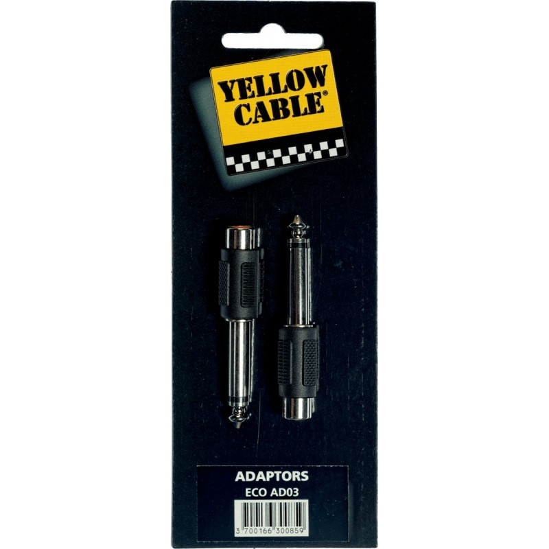 YELLOW CABLE AD03 Adaptateurs Jack Mono Mâle / RCA Femelle