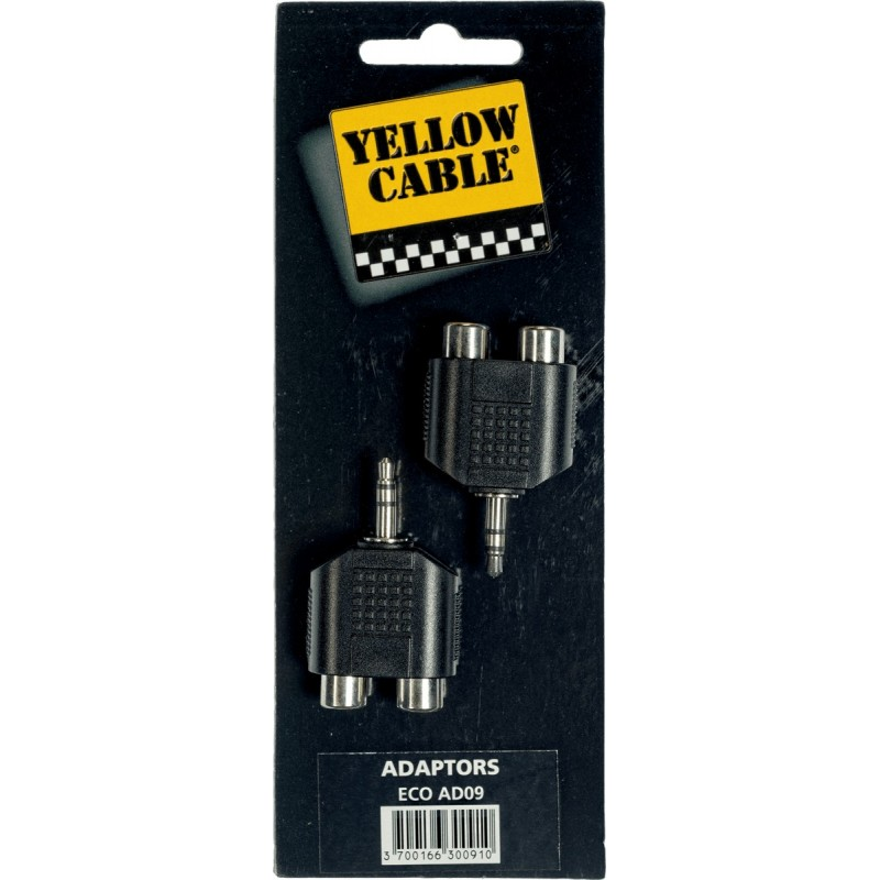 YELLOW CABLE AD09 Adaptateurs Mini Jack Stéréo Mâle / 2 RCA Femelle