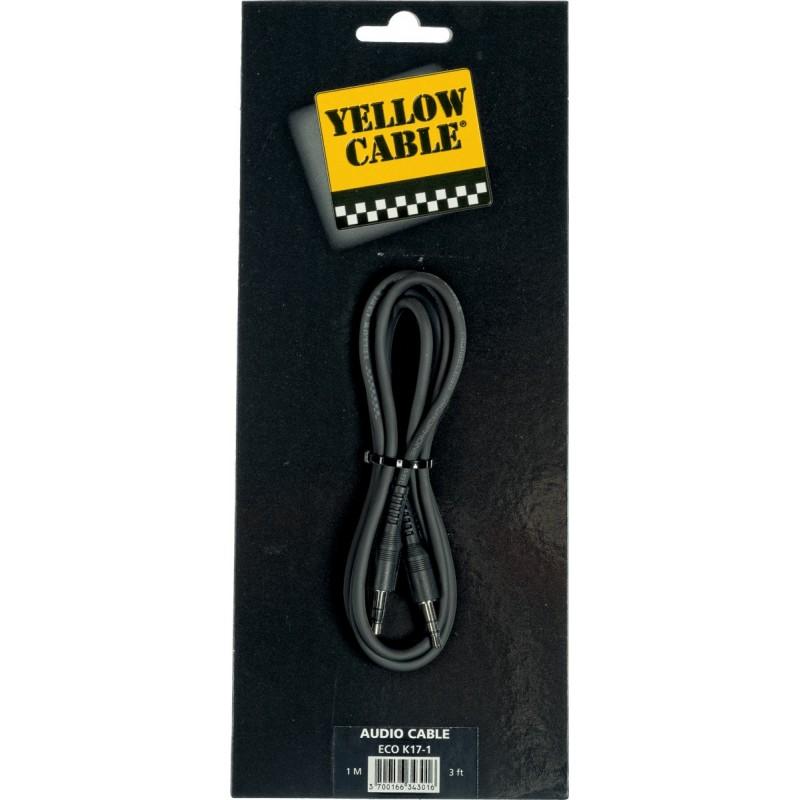 YELLOW CABLE K17-1 Mini JACK Stéréo Mâle / Mini Jack Stéréo Mâle 1m