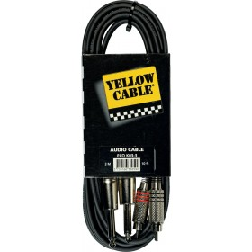 YELLOW CABLE K03-3 2 RCA Mâle / 2 JACK Mono Mâle 3 m