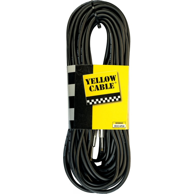 YELLOW CABLE HP1 Haut Parleur JACK / JACK 20 m