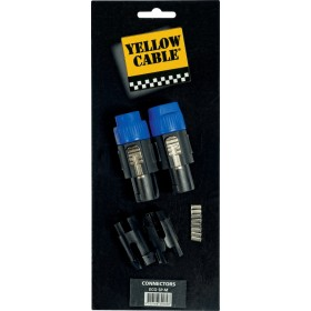 YELLOW CABLE SP-M Fiches Speakon Mâle 4 Points