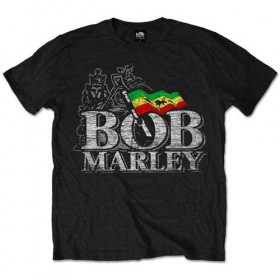 T-Shirt Homme Bob Marley Distressed Logo Taille M