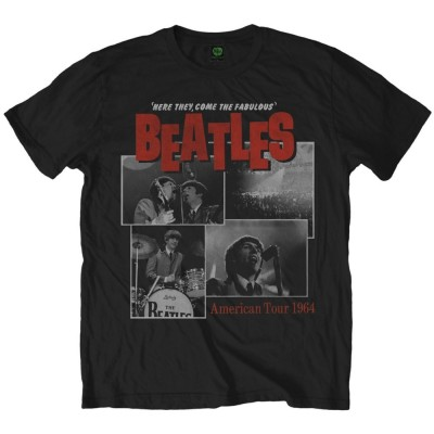 T-Shirt Homme The Beatles Here They Come Mens Black Taille M