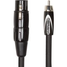 ROLAND CABLE BLACK XLR Femelle / RCA Mâle 3 m