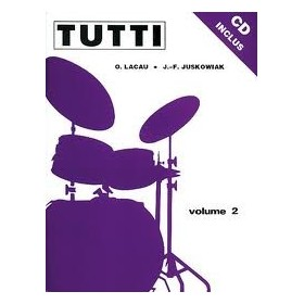 TUTTI VOL 2 Méthode Batterie JUSKOWIAK/LACAU + CD