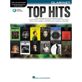 Instrumental Play Along Top Hits Clarinette + Audio