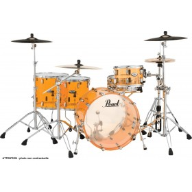 "PEARL CRYSTAL BEAT Rock 22"" 2 Toms Basse Tangerine Glass"