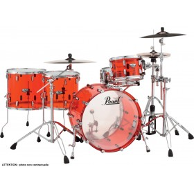 "PEARL CRYSTAL BEAT Rock 22"" 2 Toms Basse Ruby Red"