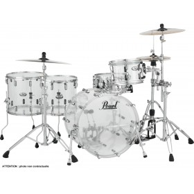 "PEARL CRYSTAL BEAT Rock 22"" 2 Toms Basse Ultra Clear"