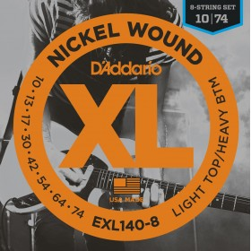 D'ADDARIO EXL 140-8 Light Top-Heavy Bottom 10-74