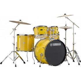 """YAMAHA RYDEEN Fusion 20"""" Mellow Yellow + Hardware + Cymbales PAISTE 101"""
