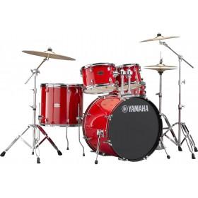 "YAMAHA RYDEEN Fusion 20"" Hot Red + Hardware + Cymbales PAISTE 101"