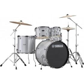 "YAMAHA RYDEEN Fusion 20"" Silver Glitter + Hardware + Cymbales PAISTE 101"