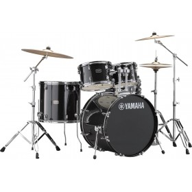 "YAMAHA RYDEEN Fusion 20"" Black Glitter + Hardware + Cymbales PAISTE 101"