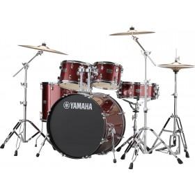 "YAMAHA RYDEEN Stage 22"" Burgandy Glitter + Hardware + Cymbales PAISTE 101"