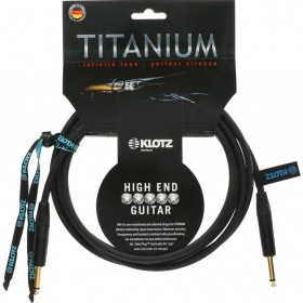 KLOTZ TITANIUM CABLE JACK / JACK Neutrik 9 M Noir