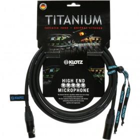 KLOTZ TITANIUM CABLE XLR Mâle / XLR Femelle NEUTRIK 5M NOIR