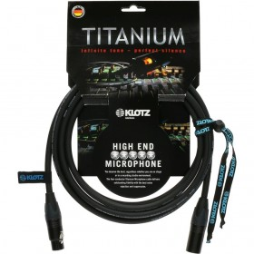 KLOTZ TITANIUM CABLE MICROPHONE XLR / XLR NEUTRIK 3M NOIR