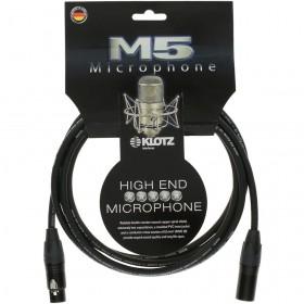 KLOTZ M5 CABLE XLR Mâle / XLR Femelle Neutrik 10 M Noir