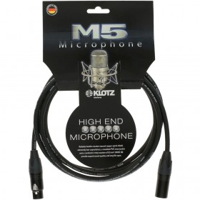 KLOTZ M5 CABLE XLR Mâle / XLR Femelle Neutrik 3 M Noir