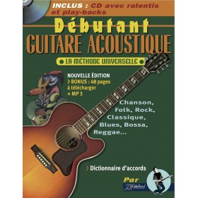 METHODE DEBUTANT GUITARE ACOUSTIQUE + CD REBILLARD