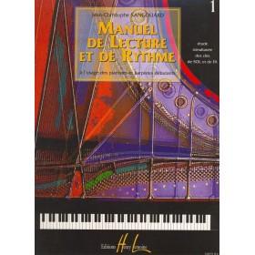 Manuel de Lecture et de Rythme Volume 1 JC SANGOUARD
