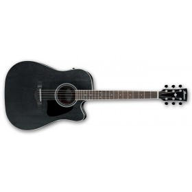 IBANEZ AW84CE-WK Weathered Black Open Pore