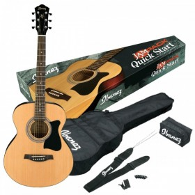 IBANEZ PACK GUITARE ACOUSTIQUE VC50NJP-NT Natural High Gloss