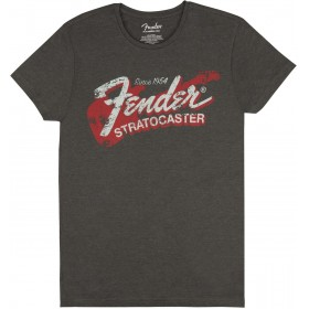 T-Shirt Homme FENDER SINCE 1954 STRATOCASTER Gris Taille XL