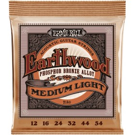 ERNIE BALL EARTHWOOD PHOSPHORE BRONZE MEDIUM LIGHT 12-54