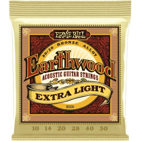 ERNIE BALL EARTHWOOD EXTRA LIGHT 10-50