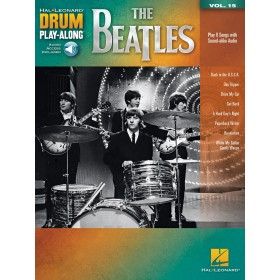 Drum Play Along The Beatles Volume 15 + Audio Online