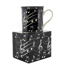 MUG Note de Musique Blanc sur Noir