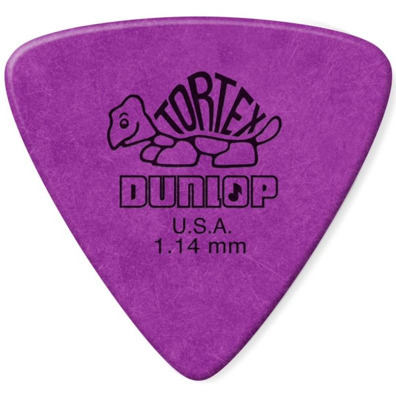 DUNLOP Médiator TORTEX Triangle 1,14 mm Violet