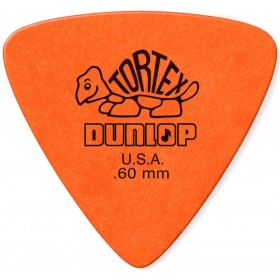 DUNLOP Médiator TORTEX Triangle 0,60 mm Orange