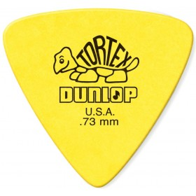 DUNLOP Médiator TORTEX Triangle 0,73 mm Jaune