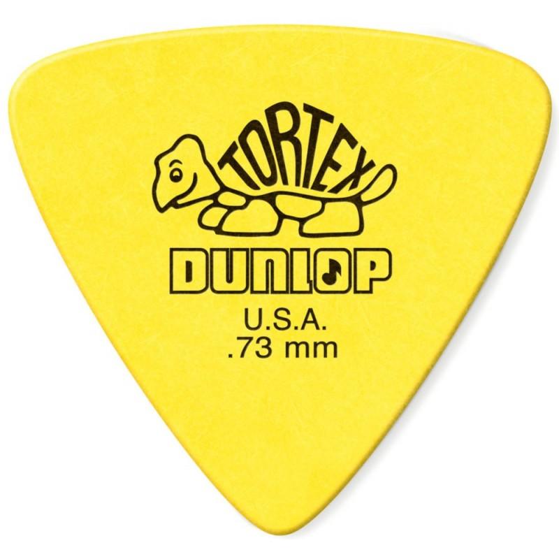 DUNLOP Médiator TORTEX Triangle 0,73 mm Jaune