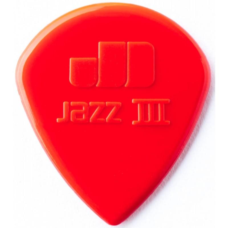 DUNLOP Médiator NYLON JAZZ Rouge 1,38 mm