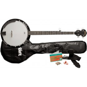 WAHSBURN Pack banjo à résonateur