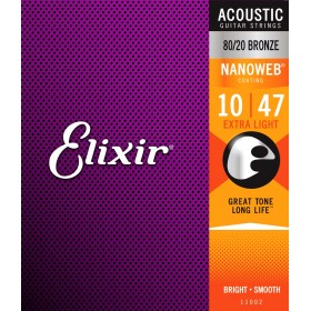 ELIXIR ACCOUSTIC NANOWEB Bronze Extra Light 10-47