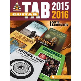 Guitar Tab 2015-2016 12 Of The Hottest Hits !