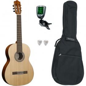Pack Guitare Classique SANTOS Y MAYOR 7 4/4 Gaucher