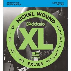 D'ADDARIO EXL165 CUSTOM LIGHT 45-105